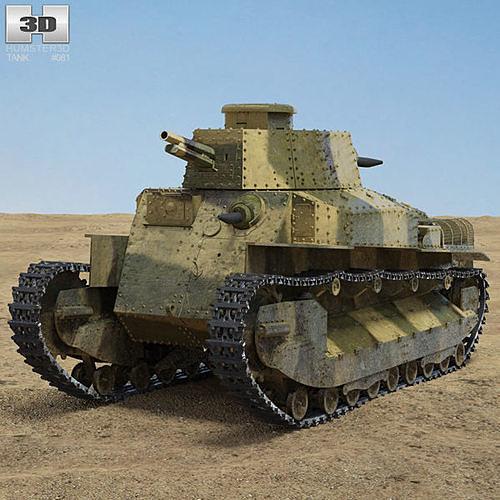 type 89 i go 3d model max obj mtl 3ds fbx c4d lwo lw lws 1