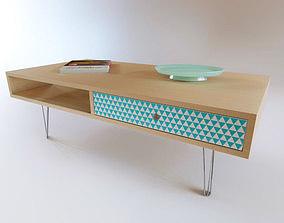3D Midcentury coffee table