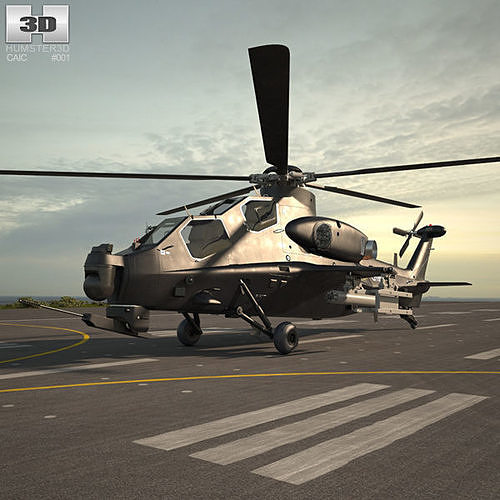 caic wz-10 3d model max obj mtl 3ds fbx c4d lwo lw lws 1
