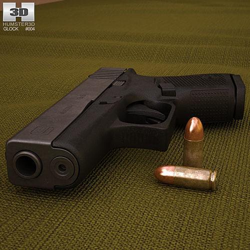 glock 43 3d model max obj mtl 3ds fbx c4d lwo lw lws 1