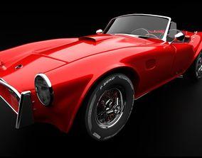 3D AC Cobra-Shelby sports car
