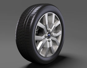 3D model Subaru Justy RS wheel 2017