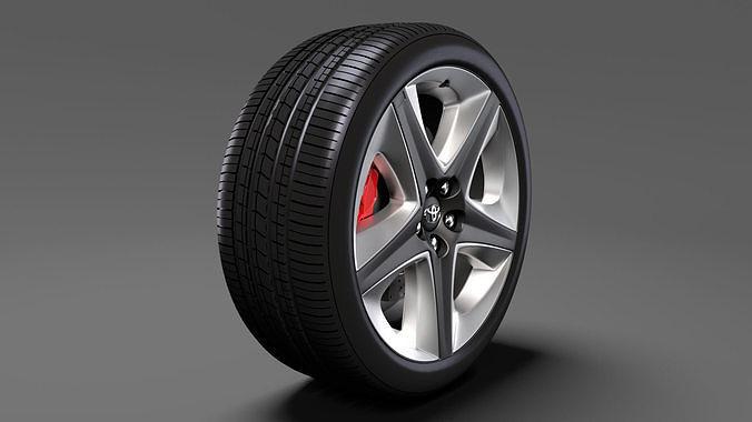 toyota prius 2017 wheel 3d model max obj mtl 3ds fbx c4d lwo lw lws 1