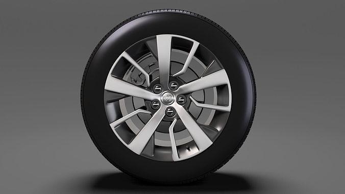 toyota proace verso wheel 2017 3d model max obj mtl 3ds fbx c4d lwo lw lws 1