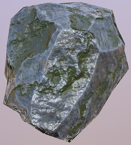 rock low poly 3d model low-poly obj mtl 1