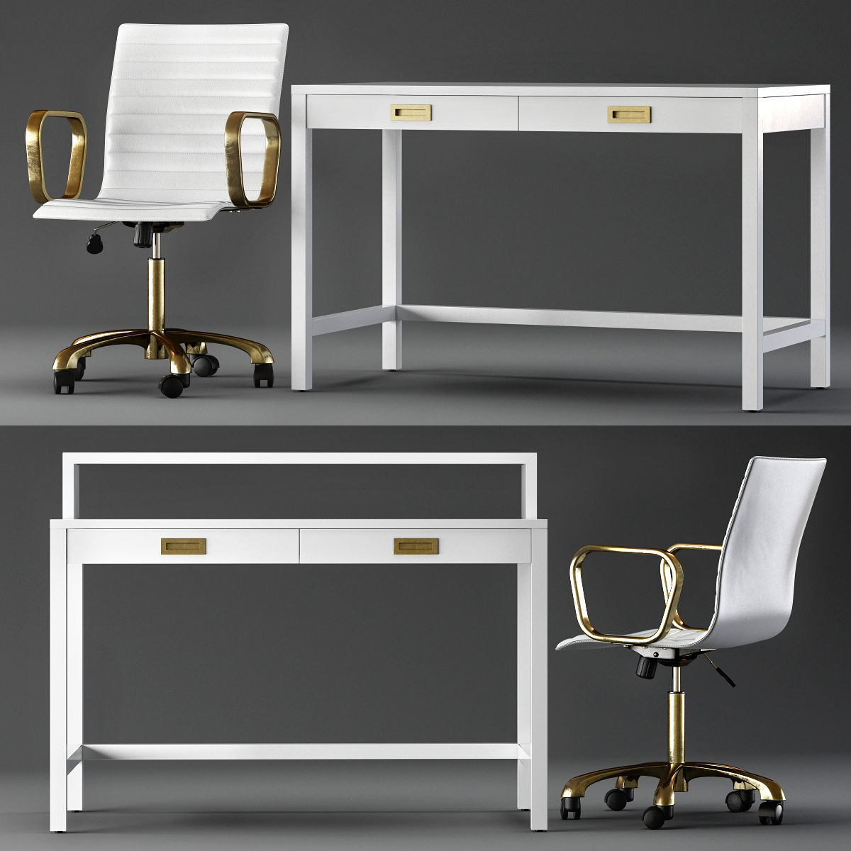 3d Model Crate And Barrel Aspect Home Office Cgtrader
