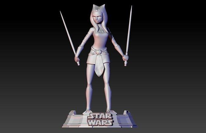 ahsoka tano from clone wars series 3d model stl 1