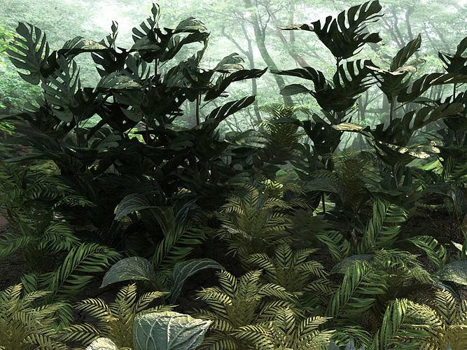 set tropical plants 10 types 3d model low-poly max obj mtl fbx 1