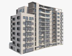 3D model Apartment Building 7