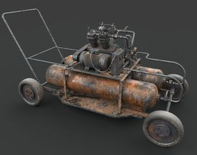 Rusted machinery device pump 3D model PBR