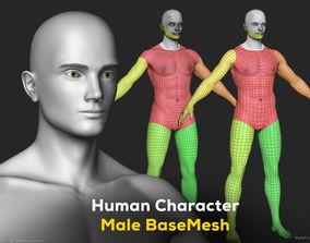 3D model Human Character Male BaseMesh - Man Body