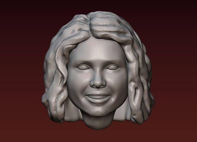female head 1 3d model obj mtl fbx stl blend 1