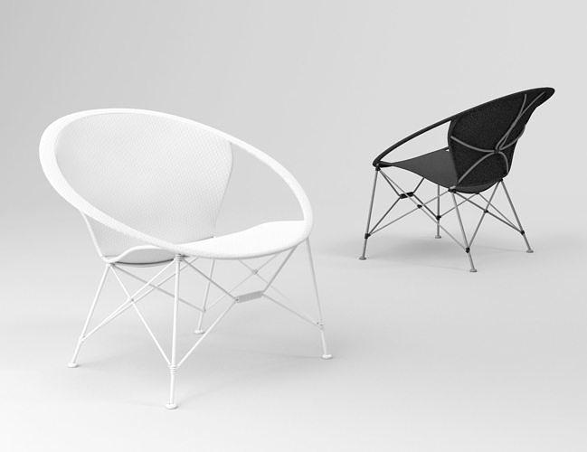 feelgood designs cl326 lounge armchair 3d model max obj mtl tga 1