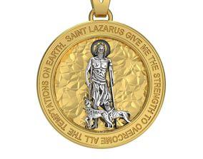 Saint Lazarus Pray 3D printable model sick
