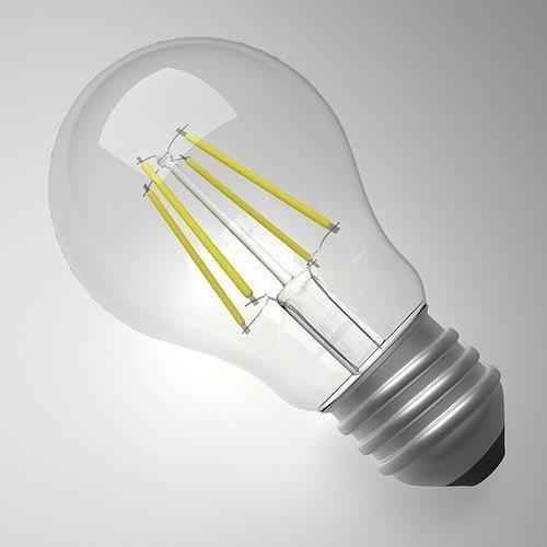 led light bulb  3d model obj mtl 3ds fbx blend 1