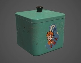 3D asset Realistic Old Kitchen Container