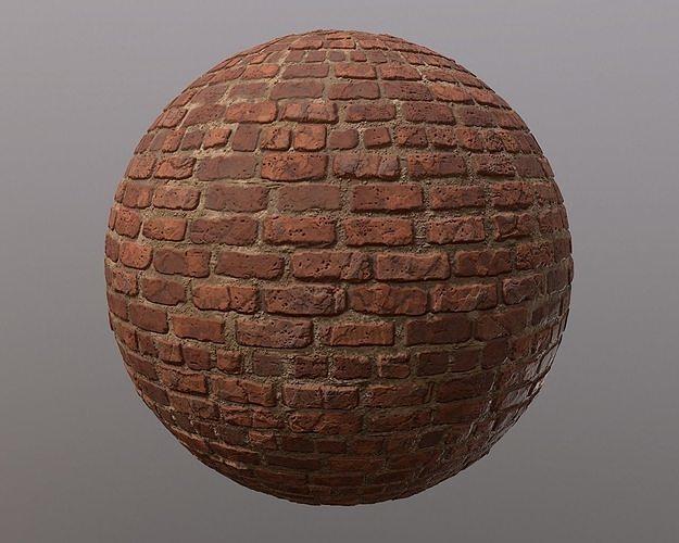 brick wall texture 3d model  1