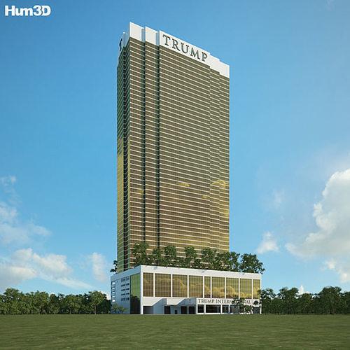 trump international hotel las vegas 3d model max obj mtl 3ds fbx c4d lwo lw lws 1