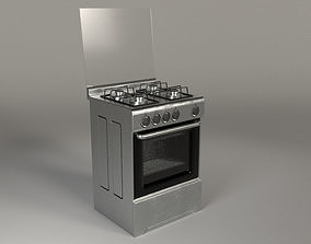 Kitchen Top and Oven 3D asset