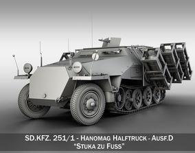 SDKFZ 251 - Ausf D - Stuka zu Fuss 3D model