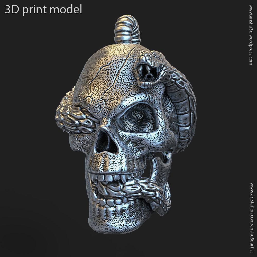 Biker snake skull vol11 Pendant jewelry