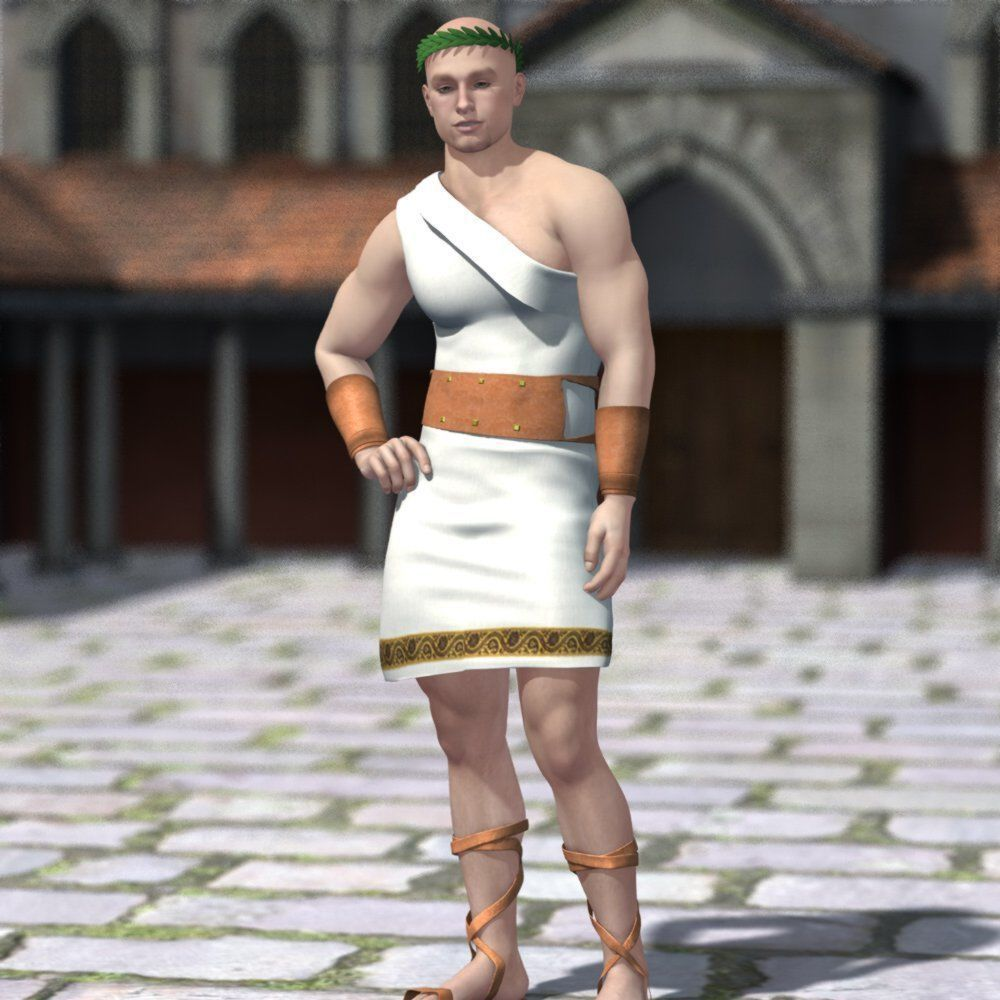Roman Outfit M4 for Poser | 3D model