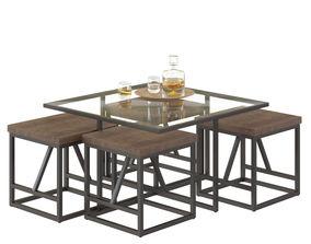3D model Calvin coffee table potterybarn