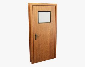 3D model Realistic Wooden Door 003