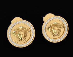 1484 Diamond Versace Earrings V1 3D printable model