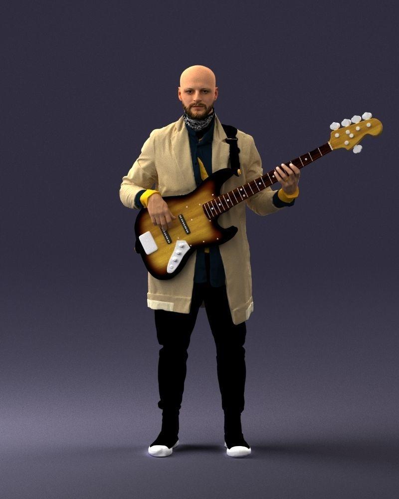 Musician bass guitar player 0118-2