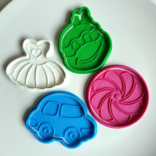 cookie cutters set toys 3d model stl 1