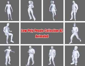 3D model Low Poly People Collection 02 -