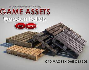 Dirty Wooden Pallets 3D asset