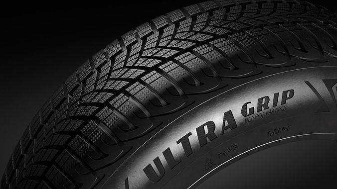r18 goodyear ultragrip suv tire 3d model max obj mtl fbx ma mb 1