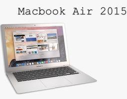 the new macbook air 2015 3d model max obj fbx mtl