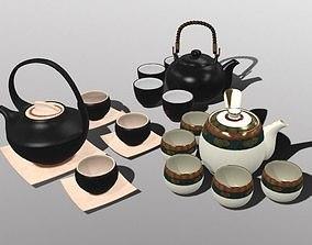 Oriental Tea Sets 3D model