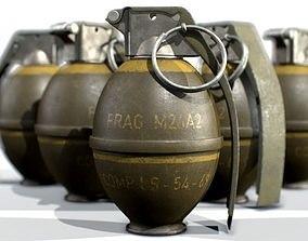 American Frag hand grenade M26 3D model