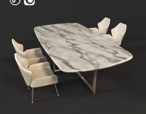 Modern Dining Set 3D model