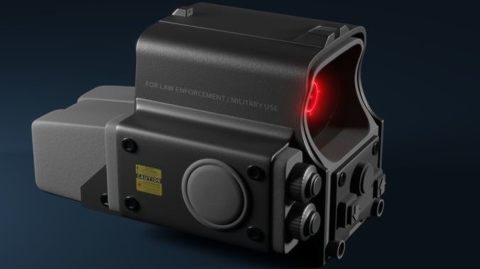 551 holographic sight 3d model obj mtl 3ds fbx stl blend 1