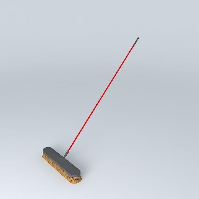24 Push Broom 3D model | CGTrader