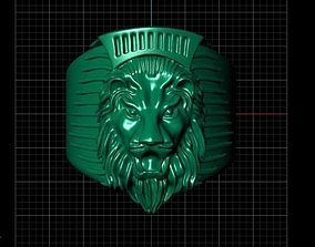 lion man ring 3D printable model
