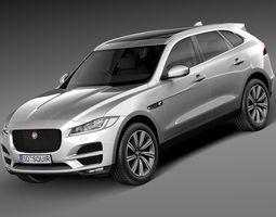Jaguar F-Pace 2017 3D Model