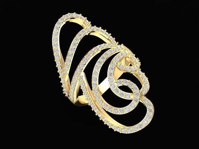 1486 diamond ring 3d model stl 3dm 1