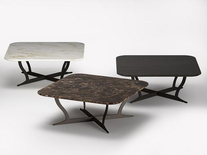 richard coffee table marble 90 and 120x80 3d model max obj mtl fbx c4d skp mxs 1