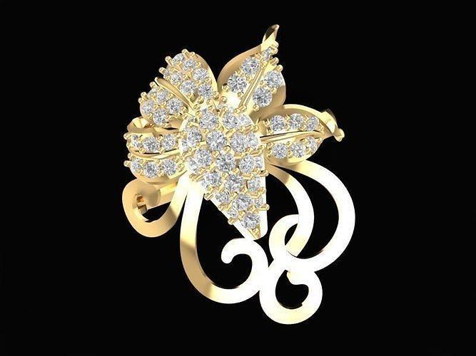 1488 diamond ring 3d model stl 3dm 1