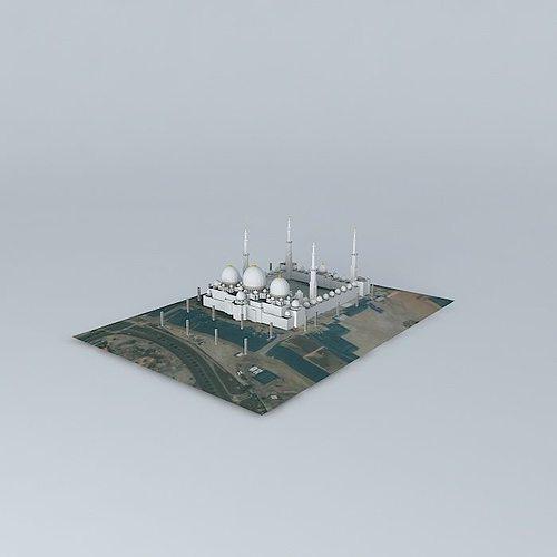 Exterior: Sheikh Zayed Mosque 3D