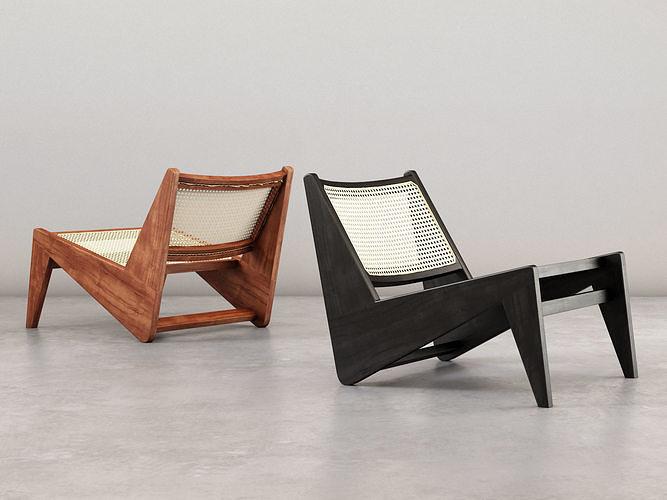 kangaroo lounge chair 3d model max obj mtl fbx c4d skp mxs 1