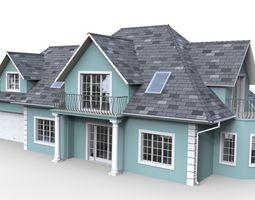 3D Family House 01