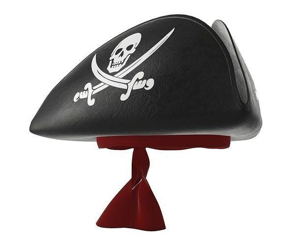 bd1f61c0e7e pirate tricorn hat with skulls and a red bandana 3d model max obj mtl fbx  mdl