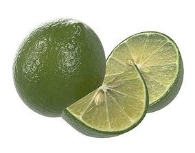citrus lime fruit 3D model